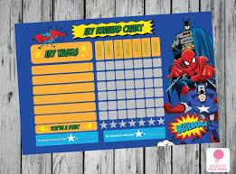 Marvel Superhero Behavior Charts Google Search Printable