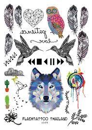 большой водонепроницаемый временные татуировки боди арт сова татуировки цветной