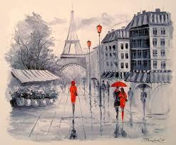 paris paintings impressionism architecture cityscape landscape canvas oil