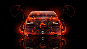 toyota crown athlete jdm back fire abstract car