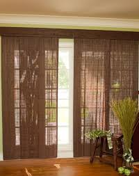 image of fabric panel blinds for sliding glass doors