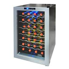vinotemp wine fridge. Vinotemp 28-Bottle Thermoelectric Wine Cooler VT-ECO28SB-01 \u2013 Coolers USA Fridge