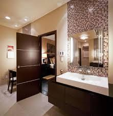 design impressive mosaic wall tiles with white acrylic sink for masculine guest bathroom ideas sparkling bathroom track lighting master bathroom ideas