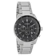 citizen quartz watches citizen quartz mens black dial stainless steel chronograph watch an8071 51e