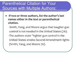 Ppt In Text Citation Parenthetical Citations Powerpoint