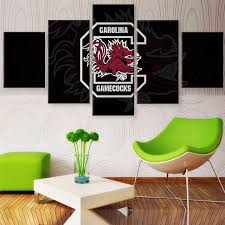 5 panel south carolina gamecocks sports team logo modern home wall decor canvas picture art hd on 5 panel giant dragon wall art canvas with 5 panel south carolina gamecocks sports team logo modern home wall
