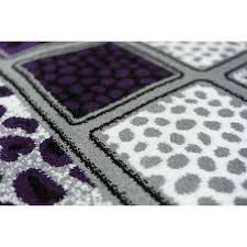 black gray and purple rugs