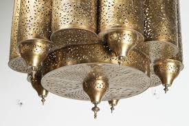 brass moroccan mosque chandelier in the style of alberto pinto moroccan brass light fixture