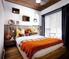 haliburton cottage rustic bedroom