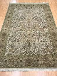 6 1 x 9 2 indian oushak oriental rug 300 kpsi