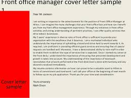 Assistant Front Office Manager Cover Letter Newest Illustration