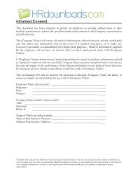 Free Printable Medical Consent Form Releaselate Patient