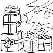 Small Picture Christmas gifts and tree coloring pages Hellokidscom