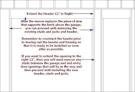 9 foot garage door header size beautiful framing a garage door opening in parable door framing