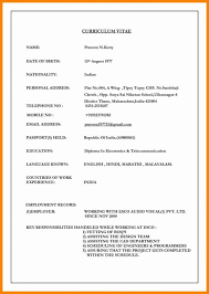 Official Resume Format Simple Official Resume Format Template 28 Official Resume Template Top