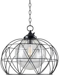 kenroy home 93665orb cavea modern oil rubbed bronze exterior ceiling light pendant loading zoom
