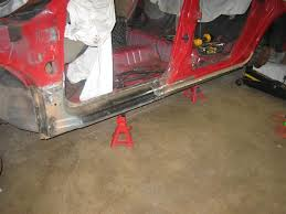 aftermarket sheet metal repairing rusted rocker panels and more painted