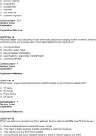 Cisco Validated Design Collaboration Exam Code Exam Code Exam Name Advanced Collaboration