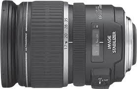 <b>Canon EF</b>-<b>S 17</b>-<b>55mm f</b>/<b>2.8</b> IS USM Standard Zoom Lens Black ...