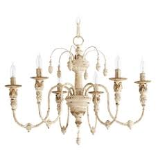 french country lighting. French Country Chandelier Quorum Lighting Salento Persian White