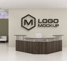 pictures for an office wall. wooden logo mock up on office wall free psd pictures for an