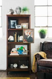 Living Room Bookshelf Decorating Decorations Elegant Living Room Bookshelf With White Wooden