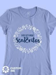 Trendy Shirt Designs 2018 Sen18ritas Class Of 2018 Class Shirt Design Idea For