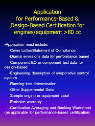 Application For Performance Based Design Based Certification For