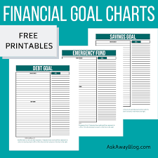 Debt Goal Chart Ask Away Blog Free Printable Financial Goal Charts