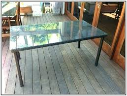 patio table replacement glass for rectangle ideas hexagon