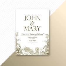 Wedding Invitation Card Sample Floral Decorative Wedding Invitation Card Template Design Download