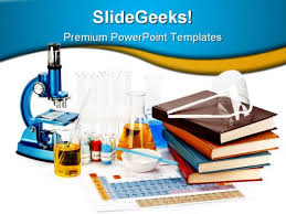 Science Powerpoint Template Free Books Flasks Science Powerpoint Template 0810