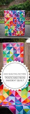 Best 25+ Beginner quilt patterns ideas on Pinterest | Quilt ... & Easy Postcard From Sweden Quilt Pattern for Beginners Adamdwight.com