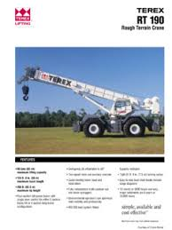Terex Rt 190 Specifications Cranemarket