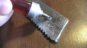 Чем сверлить каленую сталь. Сверлим пилу из быстрореза ...