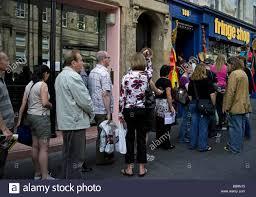 edinburgh fringe festival box office. Queue For Tickets Outside Edinburgh Fringe Festival Box Office Scotland UK Europe P