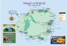 maps update  tourist map of kauai – kauai island hawaii