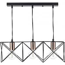 mid0322 midi 3 light bar pendant black and copper