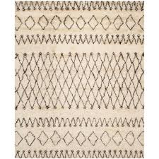 safavieh casablanca white black 8 ft x 10 ft area rug