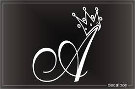 car letter decals crown letter car window decals stickers decalboy
