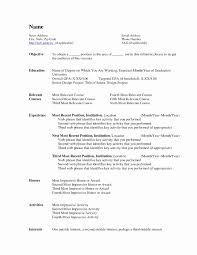 Resume Templates Download Unique Best Microsoft Word Resume