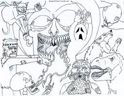 Small Picture Really Scary Monster To ColorScaryPrintable Coloring Pages Free