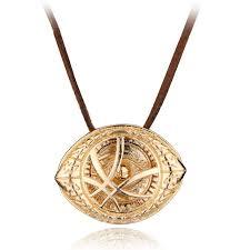 doctor strange eye of agamotto pendant leather necklace