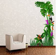 Small Picture Tropical Nature Birds and Tree Wall Stickers Lobby Design