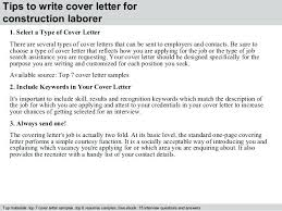 Cover Letter For A Labourer Position Construction Worker Cover
