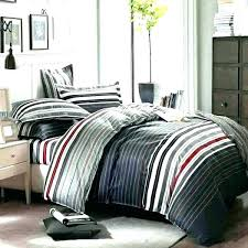 bedding comforters sets for men queen scheme grey and red stripes printing male comforter mens masculine queen comforter sets