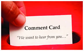 Comment Cards 8 Comment Cards Are Commonly Found In Restaurants And Hotels To