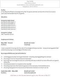 Residential Concierge Resum Superb Residential Concierge Resume