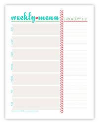 Menu Plan Monday July 15 13 Planner Addict Menu Planning