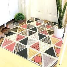 plaid outdoor rug silk loop dust proof printed doormat marble geometry plaid outdoor rugs and carpet